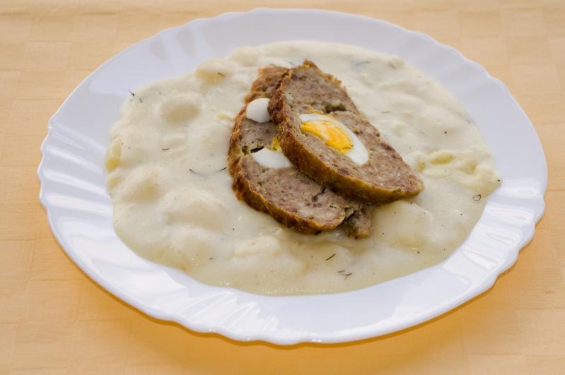 Štefanská sekaná, zemiakový prívarok