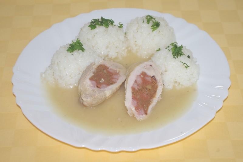 Bravčový husársky závitok,ryža.