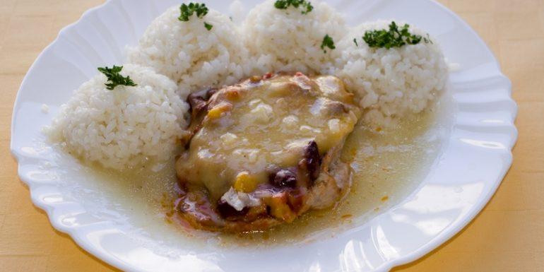 Bravčový-mexický-rezeň-ryža