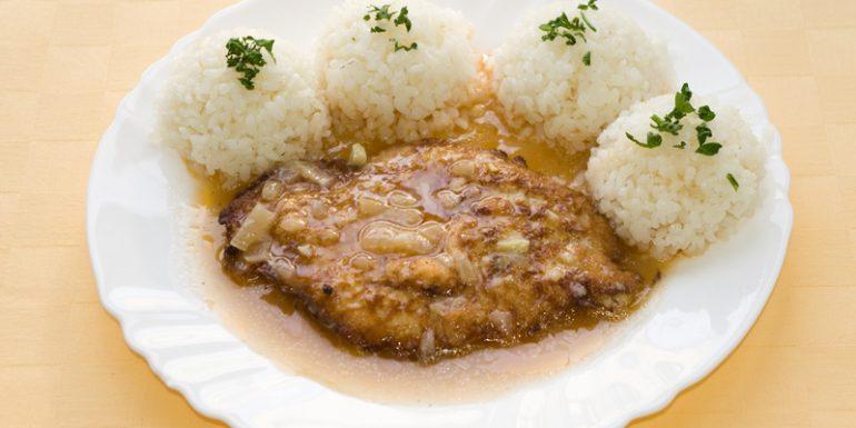 Bravčový-poľský-rezeň-ryža