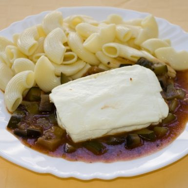 Eggcheese-s-cuketou-a-baklažánom-cestovina