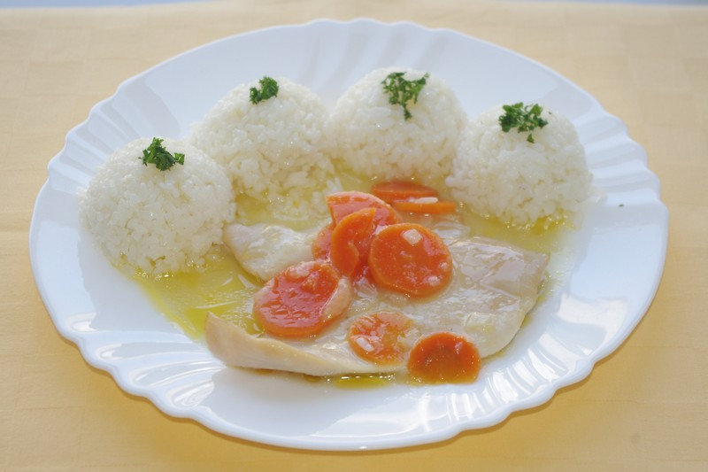 Kuracie prsia na karotke, ryža