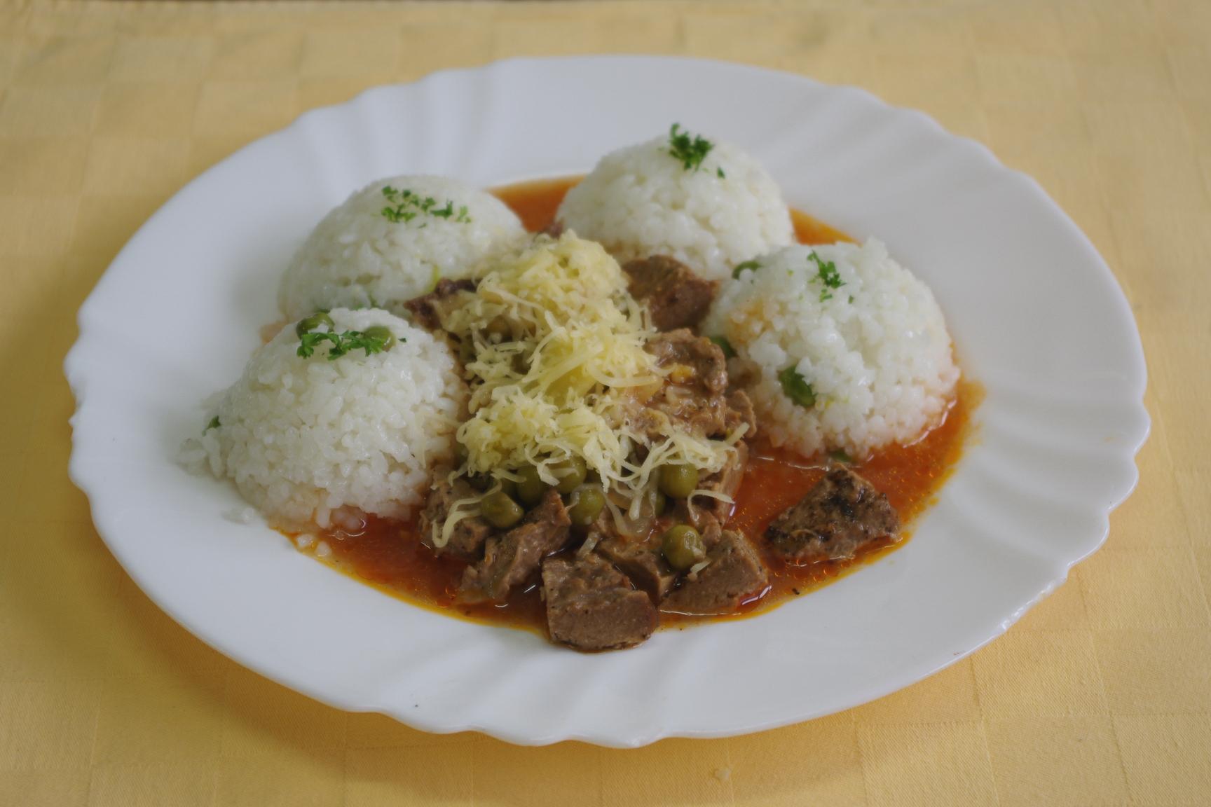 Mexický guláš z hovädzieho Goody Foody, hrášková ryža