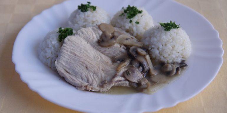 Morčacie-prsia-na-šampiňónoch-ryža