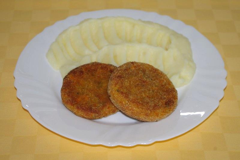 Mrkvové karbonátky, zemiaková kaša