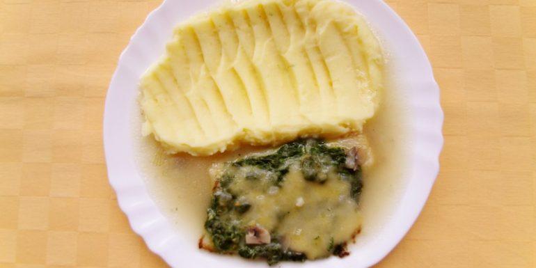 Pangasius-na-florentínsky-spôsob-zemiaková-kaša