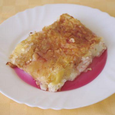 Ryžový-nákyp-s-tvarohom-a-jablkami-džús