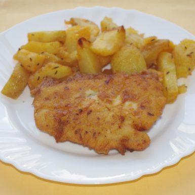 Ryba-Mahi-Mahi-v-syrovom-cestíčkupečené-zemiaky