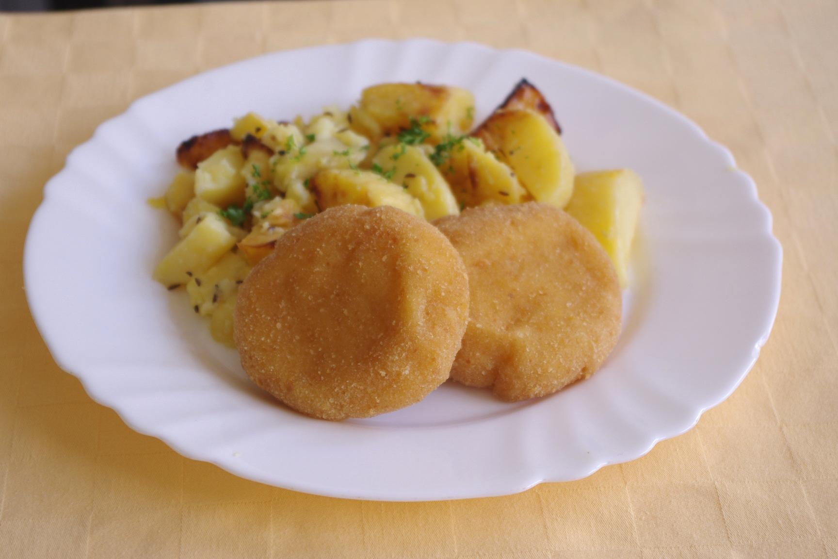 Syrové dukáty, pečené zemiaky