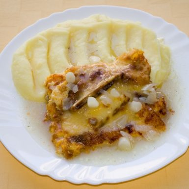 Tilapia-gratinovaná-so-špargľou-a-syrom-zemiaková-kaša