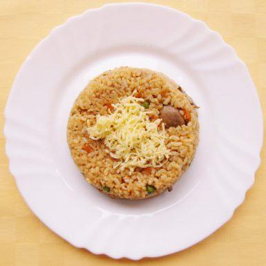 Vegetariánske-rizoto-so-šampiňónmi-a-syrom