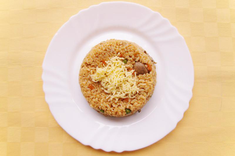 Vegetariánske rizoto s šampiňónmi a syrom