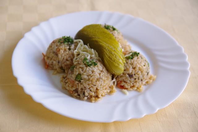 Vegetariánske rizoto so zmesou húb, syr